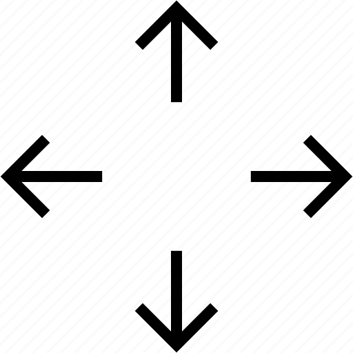 arrow, move, zoom icon