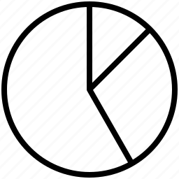 graph, slice icon