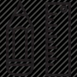 design, draw, pen, ruler icon