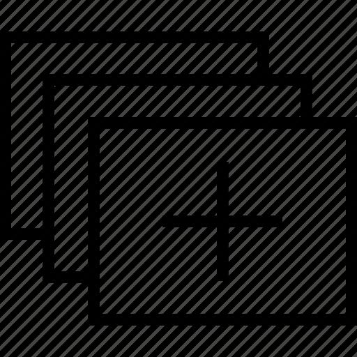 add, layer icon