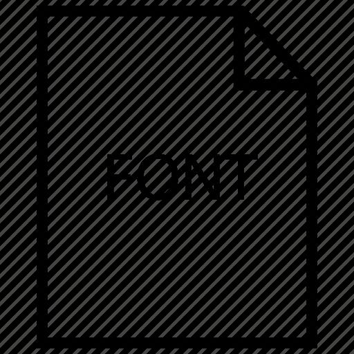 file, font icon