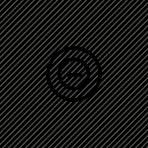 cancel, close, collapse, error, minimize, reject, remove icon