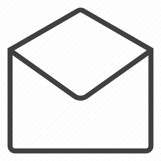 chat, email, message, open icon