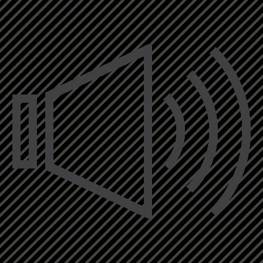 audio, on, sound icon