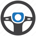 driving, steering, wheel icon