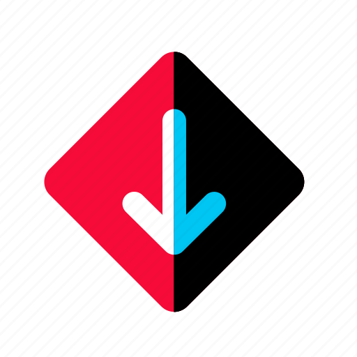 arrow, down, download, navigation, pointer icon