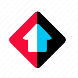 arrow, arrow up, direction, gps, navigation, pointer, up, upload icon