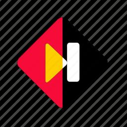 audio, forward, media, multimedia, music, next, next button, play icon