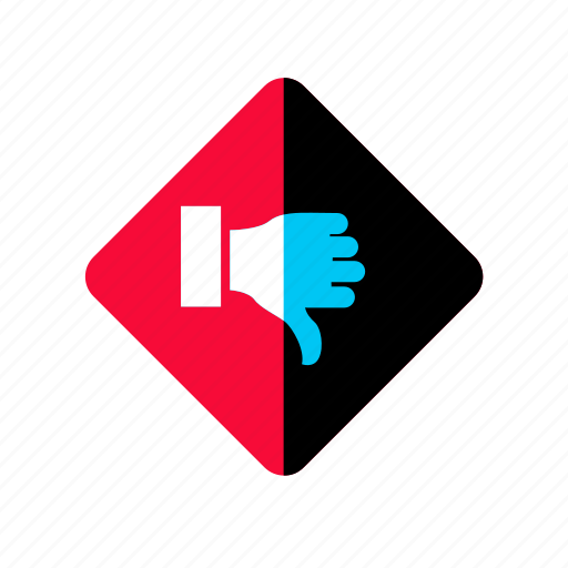 dislike, down, finger, gesture, hand, unlike icon