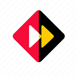 audio, button, fast, forward, media, music, next, play, player, replay, sound, video icon