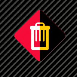 bin, can, garbage, recycle, trash, ui icon