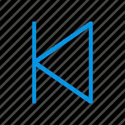 backward, forward, pause, start icon