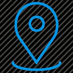 gps, locate, location map, location marker, location pin, location tracker, place icon