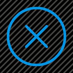cancel, close, close windows, delete, error, multiply, remove icon