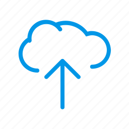 cloud services, cloud storage, data transfer, fast upload, online storage, shared services, upload icon