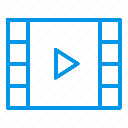 audio, media, movie, movie file, music, video, video file icon