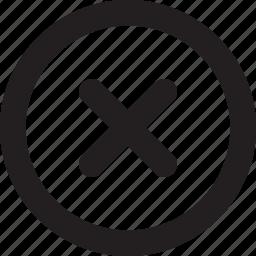 cancel, close, cross, delete, remove, stop icon