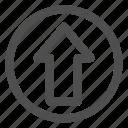 arrow up, up arrow, upload icon
