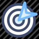 focus, goal, objective, seo, success, target icon