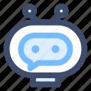 automation, bot, bot character, chatbot, robot icon