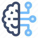 artificial intelligence, brain, connection, machine learning, technology icon