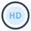 hd, high definition, high quality, quality icon
