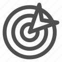 aim, goal, objective, success, target icon