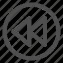 arrows, back, backward, left, previous icon