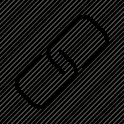 clip, metal, paper, pin icon