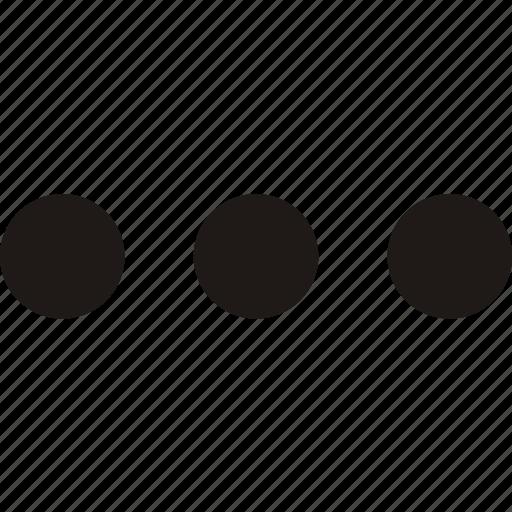 continue, ellipsis, menu, more, options icon icon