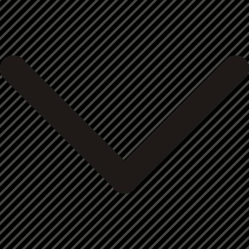 arrow, arrows, direction, down icon icon