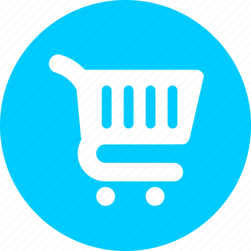 blue, ecommerce, online shopping, shopping cart, supermarket, trolley icon