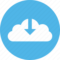 arrow, cloud, down, download icon, downloadcloud icon