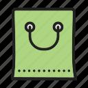bag, basic, shopping icon