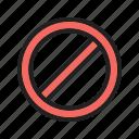 basic, block, forbidden, ui icon
