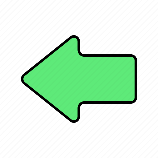 arrow, back, basic, direction, left, navigation, ui icon