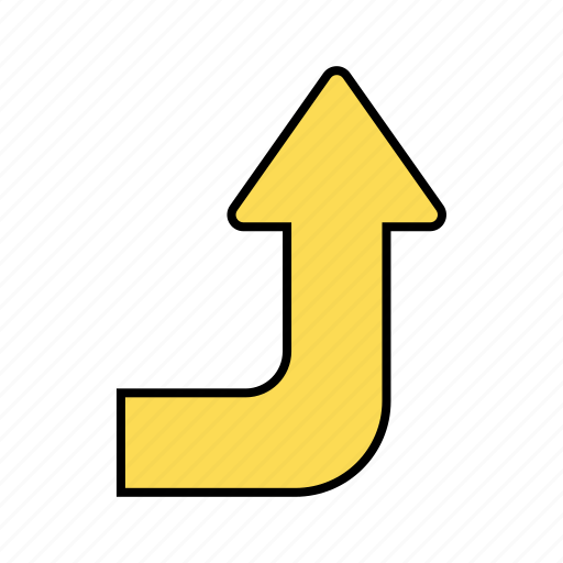 arrow, basic, direction, navigation, ui, up icon