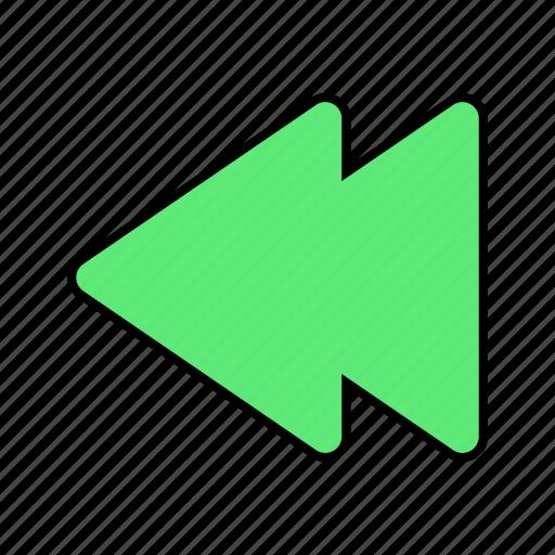 arrow, back, basic, fast, left, previous, ui icon