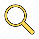 basic, glass, magnifier, search, ui icon
