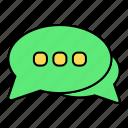 basic, bubble, chat, comments, message, ui
