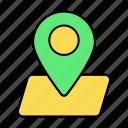 basic, gps, location, map, pin, ui