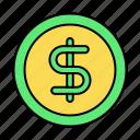 basic, bill, coin, dollar, financial, money, ui