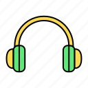 basic, headphone, headset, music, ui