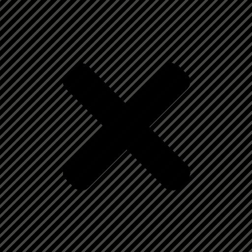 basic, cancel, close, cross, delete, remove, ui icon