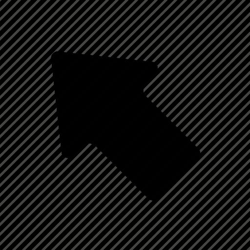 arrow, basic, direction, navigation, ui, upper icon