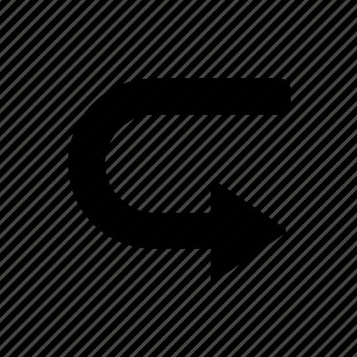 arrow, basic, next, right, ui icon