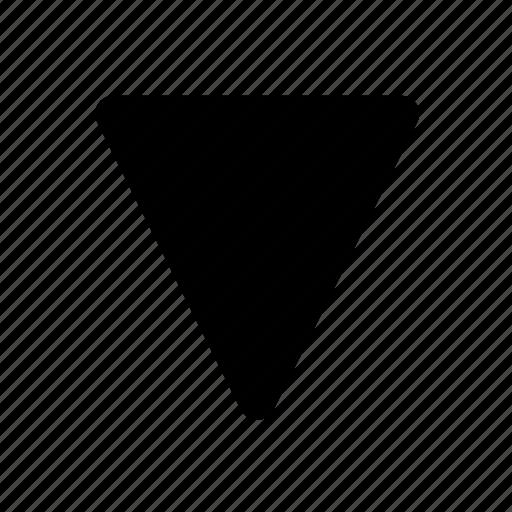 arrow, basic, down, move, ui icon