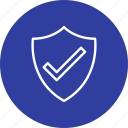 badge, shield, valid, verified icon