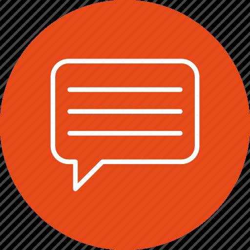 chat, conversation, message, talk icon