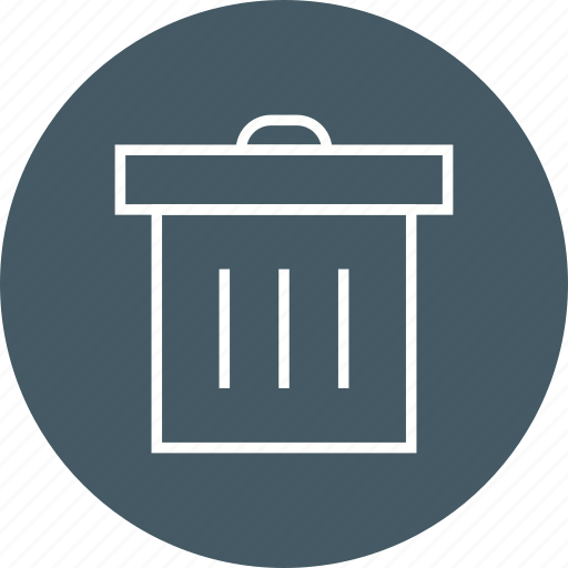 can, delete, empty, garbage, recycle, remove, trash icon